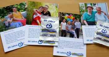 Noch eine schöne Aktion zum Jubiläum: Postkarten mit Gummibärchen (Foto: LHD)