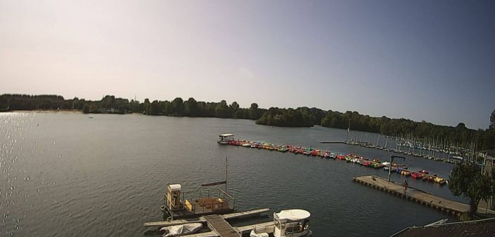 Webcam am Nordufer des Unterbacher Sees mit Blick Richtung Südwesten (Screenshot)