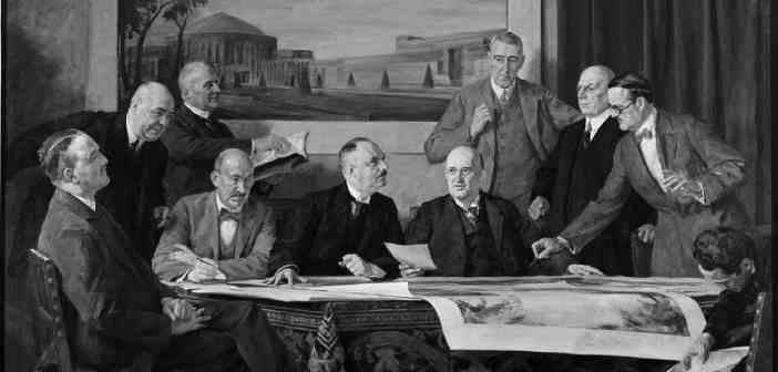 Robert Lehr und der Gesolei-Ausschuss 1926 (Gemälde von Franz Rüsting)
