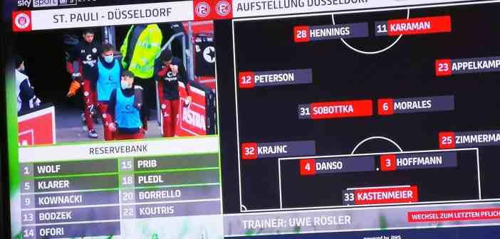 Pauli vs F95: Die Startaufstellung (Screenshot)
