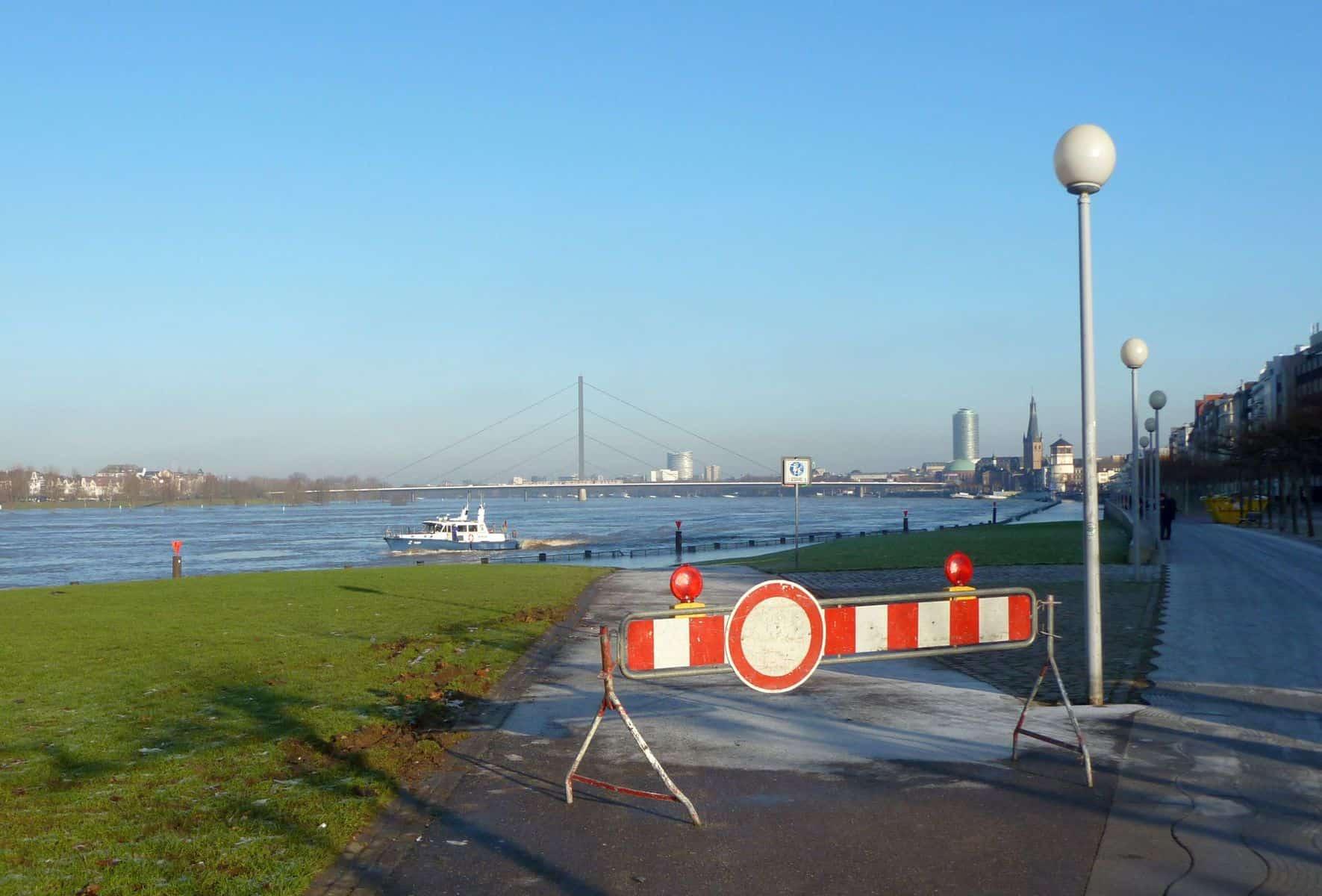 10.1.2011: Vorsichtshalber gesperrt (Foto: TD)