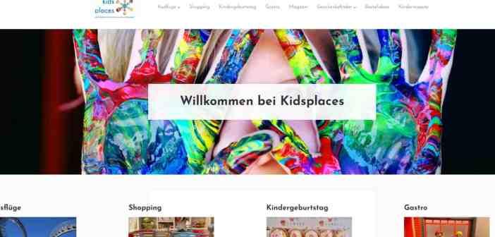 So sieht es aus auf kidsplaces.net (Screenshot)