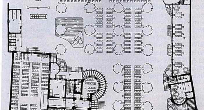 Grundriss der gesamten Jägerhaus-Anlage von 1904 im erwähnten Buch (public domain via Wikimedia)