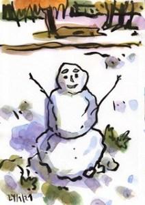 Der erste Schneemann (Ill.: C. Tiemessen)