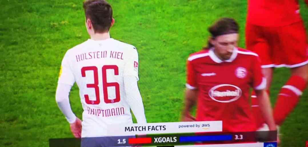 F95 vs Kiel: Enttäuscht wendet sich Bodze ab (Sky Screenshot)