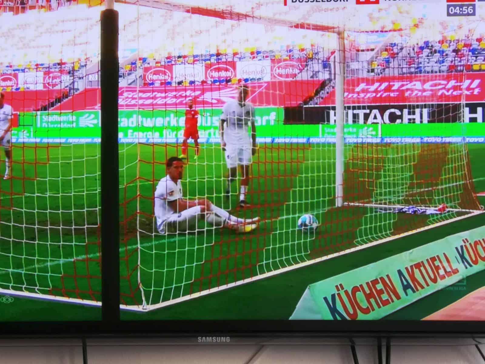 F95 vs Nürnberg: Das 3:1 in der Nachspielzeit (Screenshot: Sky)