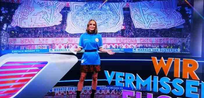 SVS vs F95: Die Sky-Tante trug Köbes-Trikot (Sky-Screenshot)