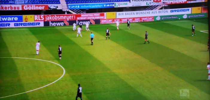 Paderborn vs F95: Gutes Zustellen im Mittelfeld (Screenshot: Sky)