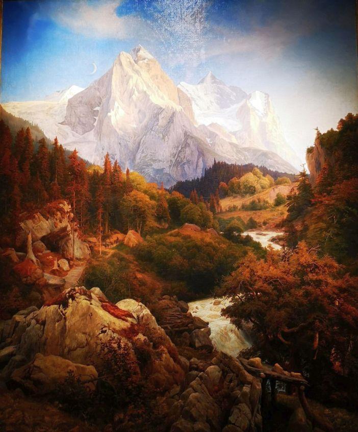 Typischer geht romantische Landschaftsmalerei kaum noch (Foto: TD)