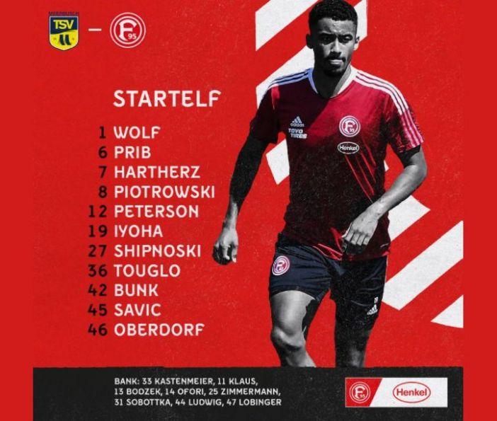 TSV Meerbusch vs F95: Die Aufstellung