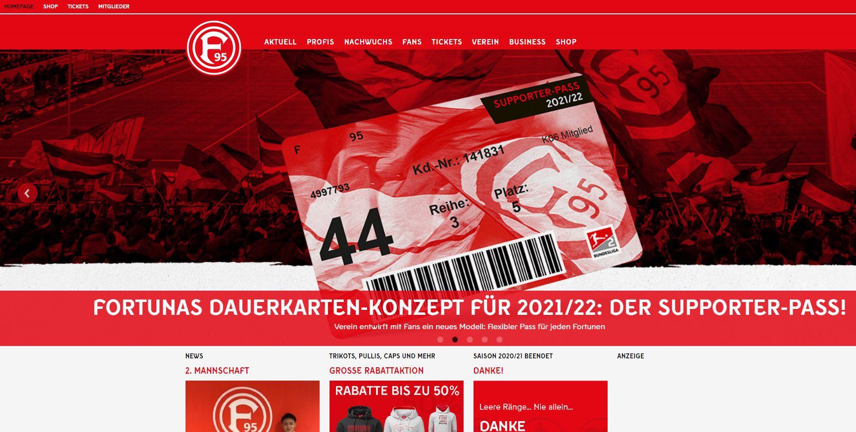 Die üblichen Meckereien der Fortuna-Fans - diesmal gegen den Supporter-Pass