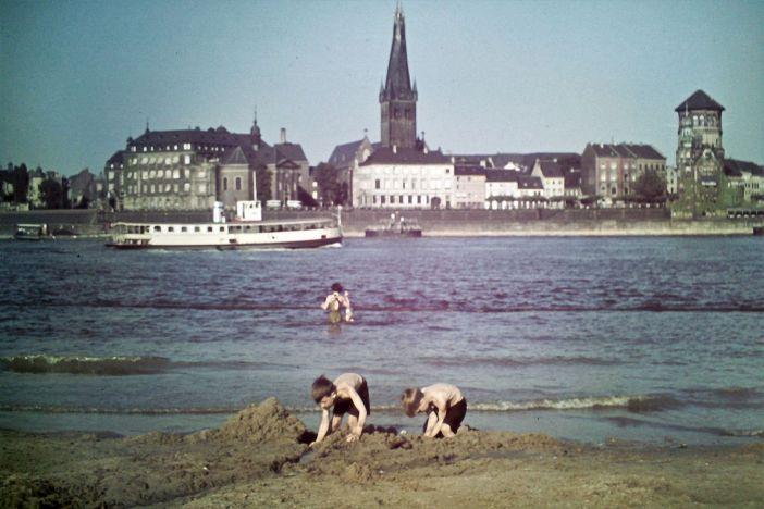 1930: Der Rhein floss wesentlich langsamer als heute (Foto: WDR digit)