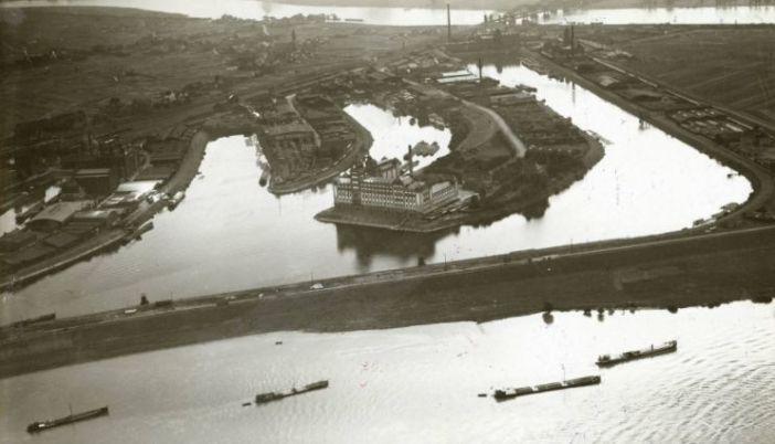 Die Plange-Anlage um 1930 herum (Foto: Stadtarchiv/Luftbild)