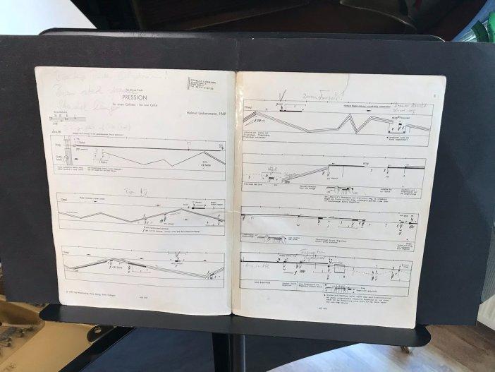 Nur für Eingeweihte lesbar: Eine Partitur für das wohlstrukturierte Violoncello  (Foto: K. Buck für TD)