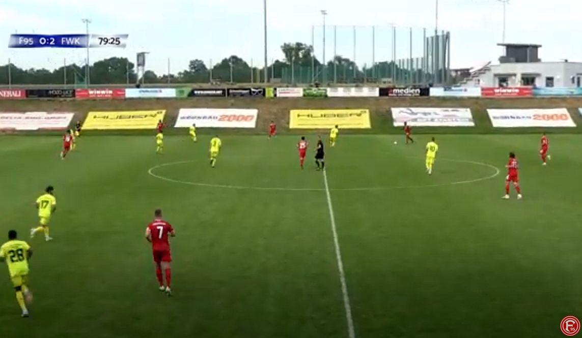 F95 vs Würzburg: Einfach nur ein Testspiel im österreichischen Trainingslager (Screenshot: F95tv)