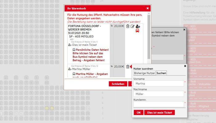 So funktioniert die Zuordnung eines Tickets für eine:n Freund:in