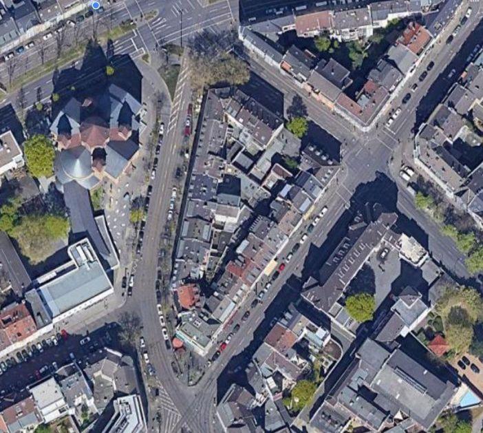 Google-Maps: Das Dreieck aus der Satellitensicht