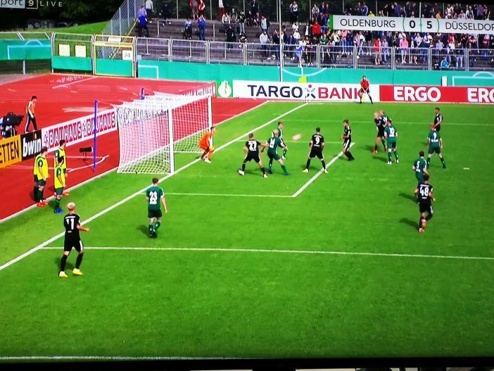 VfL Oldenburg vs F95: Die Blondschöpfe machen das 5:0 (Screenshot Sky)