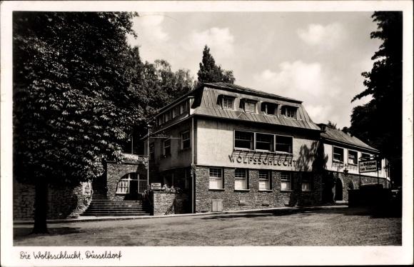 Die Wolfsschlucht auf einer Postkarte aus den 50er-Jahren