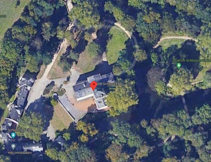 Google-Map: Schloss Eller und Schlosspark