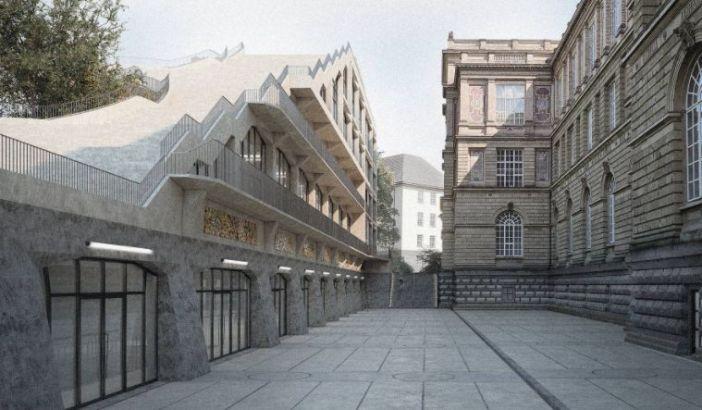 Anbau der Kunstakademie: rechts der alte Bau, links der Anbau (Foto: Kunstakademie)