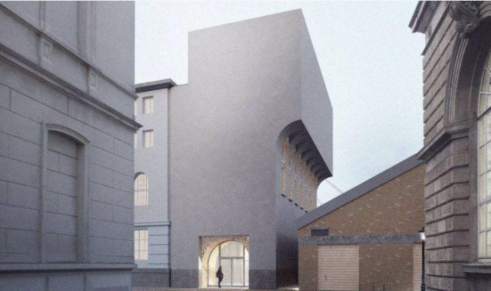 Der geplante Zusatzbau für die Akademieverwaltung (Foto: Kunstakademie)