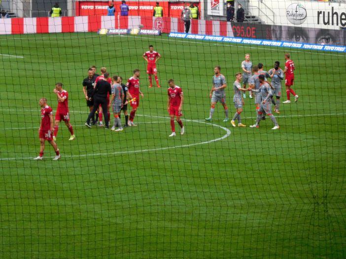 F95 vs SCP: Enttäuschung auch bei der Mannschaft (Foto: TD)