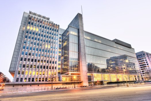 World Bank in the evening.