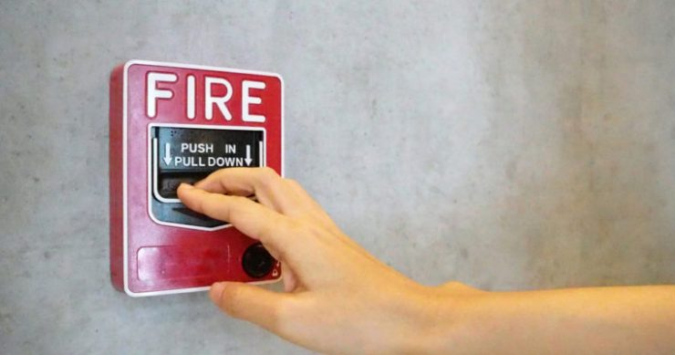 Cryptocurrency warning fire alarm