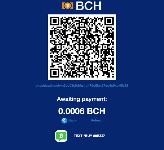Anypay Provides Bitcoin Cash Invoices That Can Be Paid by Sending a Text