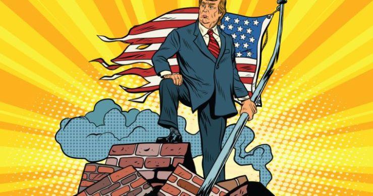 donald trump government shutdown us-mexico border wall
