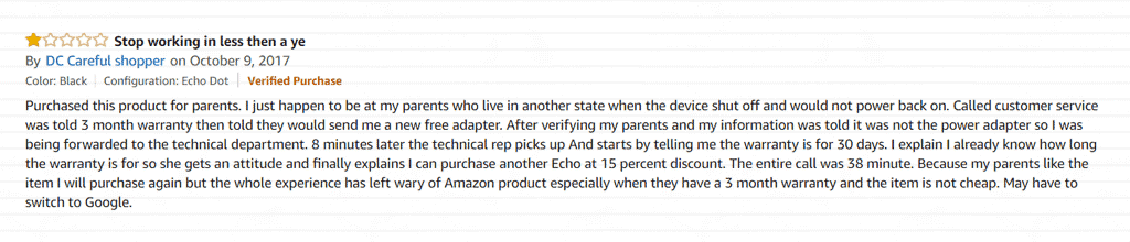 Bad Amazon Review
