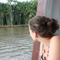 The Ecotourist contemplating the Amazon
