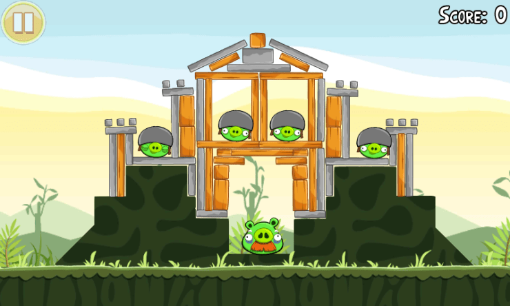 Angry Birds on Windows Phone 7