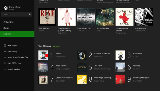 Pictures: The Xbox Music 2.0 Preview