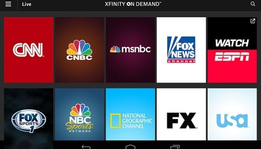 Comcast Debuts Xfinity TV Go app for Android & iOS