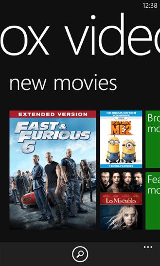 xbox video for windows phone