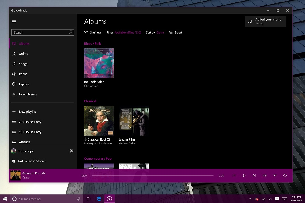 Groove Music for Windows 10 (2)