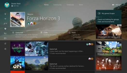 Folks are getting their first taste of the Xbox One Windows 10 Creators Update