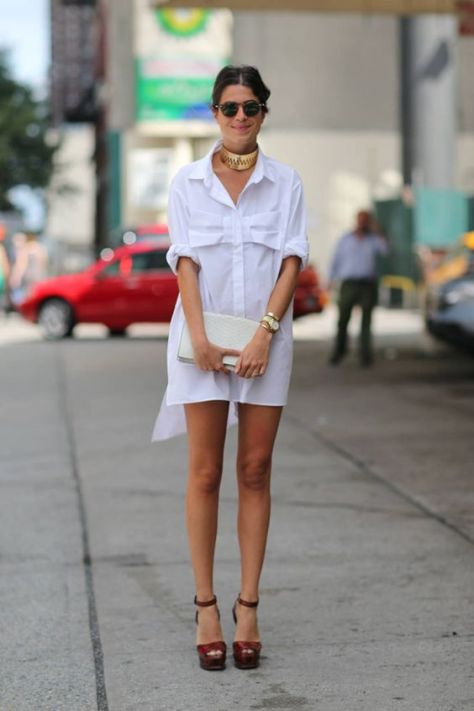 Real Way: Trending shirt dress look for fall: