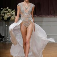 Hot bridal trend: 'Naked' wedding gowns