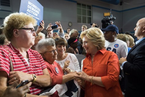 Picture of Hillary Shaking Hands