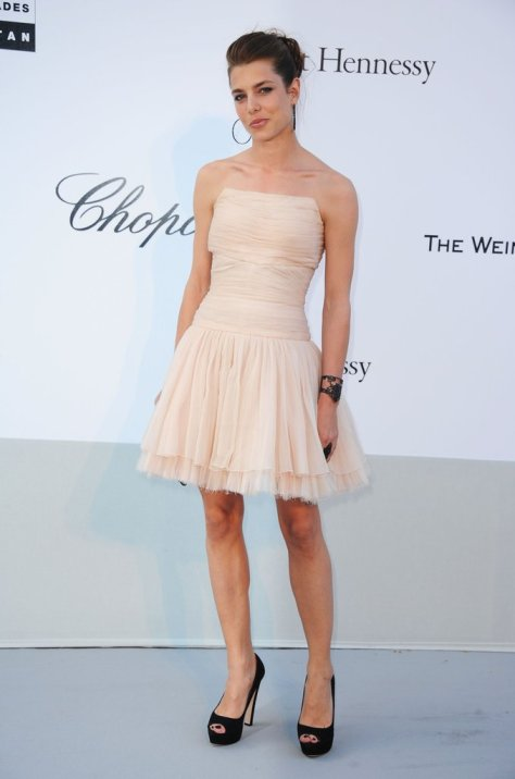 Charlotte Brings Edge to a Tulle Dress