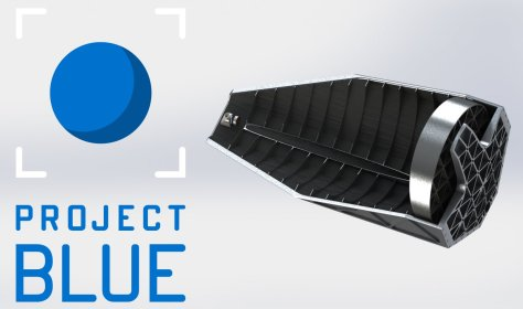 project blue telescope logo kickstarter