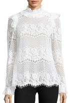 Kenzie Lace Ruffle Neck Top