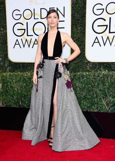 This Look Replaced the Naked Dress at the Golden Globes, but Skin Was Still In