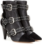 Lysett Embellished Leather And Suede Ankle Boots