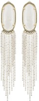 Amy Statement Earrings in White Pearl