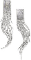 Silver-Tone Crystal Fringe Earrings, Only at Macy's