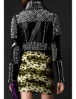 short studded leather biker jacket